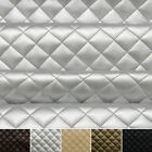 Quilted leather Faux Leather Diamond Padded Cushion  Interior Upholstery Fabric