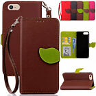 Slim Shockproof Leather Card Slots Rugged Case Cover For iPhone 5s SE 6s 7 Plus