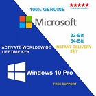 GENUINE WINDOWS 10 PRO 32 64BIT OEM ORIGINAL LICENSE KEY SCRAP PC