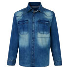New Mens Classic Fashion Denim Shirt Long Sleeve Casual Big Size 2XL-8XL