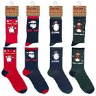 MENS CHRISTMAS NOVELTY SOCKS RANDOM STOCKING FILLER SANTA RUDOLPH FUNNY SOCKS