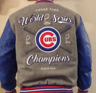 2016 Chicago Cubs World Series Champions Champs Wool Leather Reversible Jacket