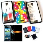 Mobile Phone Silicone Back Cover Case for Lenovo S660 + Tempered Glass + Wallet