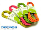 Guitar/Keyboard/Mixer Cable lead 6m Low Noise Bright Colours Jack to Jack NEON