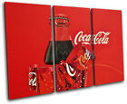 Vintage Coca Cola  Xmas Gift Food Kitchen TREBLE CANVAS WALL ART Picture Print £27.99  on eBay