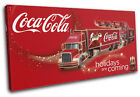 Vintage Coca Cola  Xmas Gift Food Kitchen SINGLE CANVAS WALL ART Picture Print £23.99  on eBay