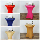"""12 pcs 36"""" Cocktail SPANDEX Fitted Table Covers Tablecloth Wedding Linens"""
