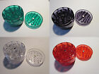 Herb Grinder Crush Crystal Catcher 4 tier Smoker Rasta Festival Acrylic Colours