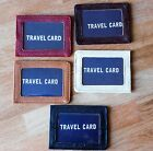 Mens Ladies Leather Travel Card Holder Wallet Oyster  I.D. Credit Card Bus Pass.
