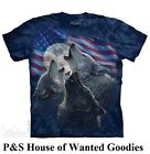 WOLF TRINITY AMERICA T-Shirt by The Mountain #8607  (Adult Men's) S- 3XL- NEW