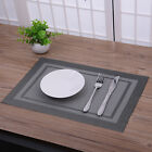 New PVC Solid Insulation Bowl Placemats Dining Pad Western Table Mats Sales New