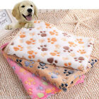 2016 For Dog Puppy Pig Cat Pet Paw Print Warm Fleece Soft Blanket Beds Mat Pad