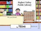 PERSONALIZED CUSTOM CARTOON PRINT - LIBRARIAN - GREAT GIFT IDEA! FREE S/H