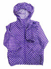 Girls Hooded Printed Raincoat Toddlers Kagool Kag Showerproof Rain Coat Kag Bag