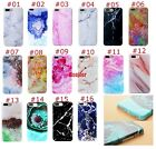 Trendy Cool Granite Marble Stone Texture Pattern Soft TPU Case Cover For iPhone