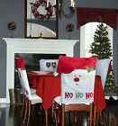 Santa Dining Room Chair Covers Set - Kitchen Christmas Decorations Indoors