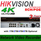 English Version DS-7608NI-K2/8P Embedded Plug and Play 4K NVR, 8-Channel, 8-PoE