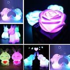Color Changing LED Lamp Night Light Rabbit Animal Shape Home Party Decor Gift
