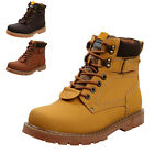 STO Fashion Men's Casual Suede Warm Work High Top Leather Martin Boots Shoes