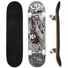 "31"" x 8"" Professional Skateboard Longboard Complete Trucks Maple Deck Wood Child"