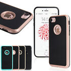 "For Apple iPhone 7 4.7"" Slim Shockproof Hybrid Hard Bumper Soft Rubber Case"