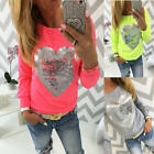 New Fashion Women Sexy Long Sleeve Shirt Casual Blouse Loose Summer T Shirt Tops