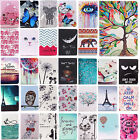 For Ipad Case Slim Shockproof Cute Pattern Stand Flip Leather Cover Wallet Skin