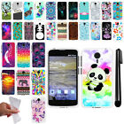 For ZTE N817 Quest Uhura TPU SILICONE Rubber Soft Protective Case Cover + Pen
