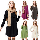 Women's Blouse Long Sleeve Ladies T Shirt Casual Loose Short Tunic Dress Tops
