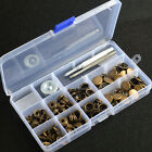 Heavy Duty Snap Fasteners Antique Brass 15mm 30 Sets Press Studs Buttons wTool