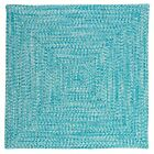 Catalina Indoor Outdoor Square Braided Rug, Aquatic ~ Mad...