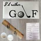Wall Decal Quote I'd Rather Golf Vinyl Sports Sticker Decor (R145)