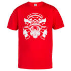 "FIREFIGHTER T-SHIRT ""FIREFIGHTER 13 FIRE DEPT"" IDEAL FOR CASUAL WEARS RED"