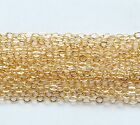GOLD FILLED FLAT CABLE CHAIN.Oval link 1.5 x 2.0 mm Gold filled bulk chain