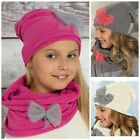 Girls / Kids Hat With tube Scarf - 2 pcs set - NEW -4-12 years / 50 - 56 cm