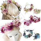 Women Flower Crown Garland Floral Wreath Wedding Party Beach Hairband YBHS0025