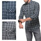 Mens 100% Cotton Point Zero Checked Shirt Casual Long Sleeve Top Sz S-XL RRP £60