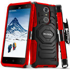 ZTE Grand X4 / Blade Spark Case, Evocel Dual Layer Kickstand & Belt Swivel Clip