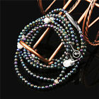 In-ear Bling Crystal Pearl Stereo Earphone Earbud With Mic For Samsung iPhone PC