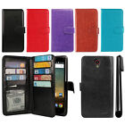 For ZTE Prestige N9132 Z831 Cheers Avid Trio Card Holder Wallet Cover Case + Pen