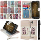 "For Alcatel Fierce 4 Allura 5056 Pop 4+ 5.5"" Flip Wallet POUCH Case Cover + Pen"