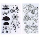 2016 Newest DIY Transparent Clear Rubber Stamp Seal crapbooking Decoration X-mas