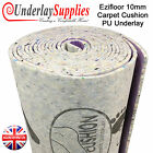 Ezifloor Carpet Cushion 10mm Thick PU Underlay Order per m2 UK Manufactured