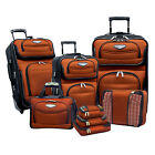 Amsterdam 8-Piece Light Expandable Rolling Luggage Suitcase Tote Bag Travel Set