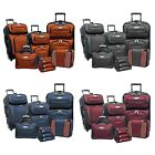 Amsterdam 8-Portion Light Expandable Rolling Luggage Suitcase Tote Bag Travel Set