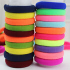 100pcs/lot Fashion Women Girl Candy Fluorescence Color Hair Holders Rubber Bands