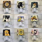 Plug-in Porcelain Night Lights Compass Peacock Kitten Horse Dogs
