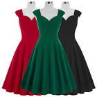 Women's New Vintage Sleeveless Swing Dress Casual Evening Party Formal Cocktail