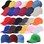 Kids Plain Baseball Cap Girls Boys Junior Childrens Hat Summer LW
