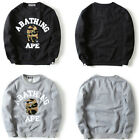 New Mens Bape A Bathing Ape Shark Camo Pullover Sweatshirt Sweater Outwear Shirt